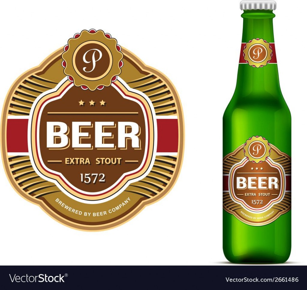 007 Exceptional Beer Bottle Label Template Picture  Free Dimension WordLarge