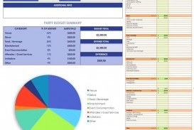 007 Exceptional Event Planner Budget Template Excel Inspiration  Party Planning Spreadsheet