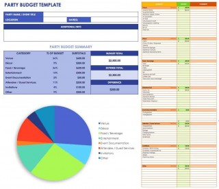 007 Exceptional Event Planner Budget Template Excel Inspiration  Party Planning Spreadsheet320