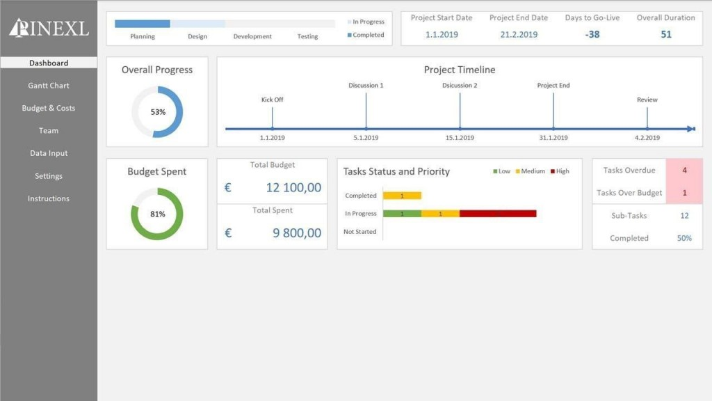 007 Exceptional Excel Project Management Template Image  With Dependencie Gantt Schedule Creation Microsoft OfficeLarge