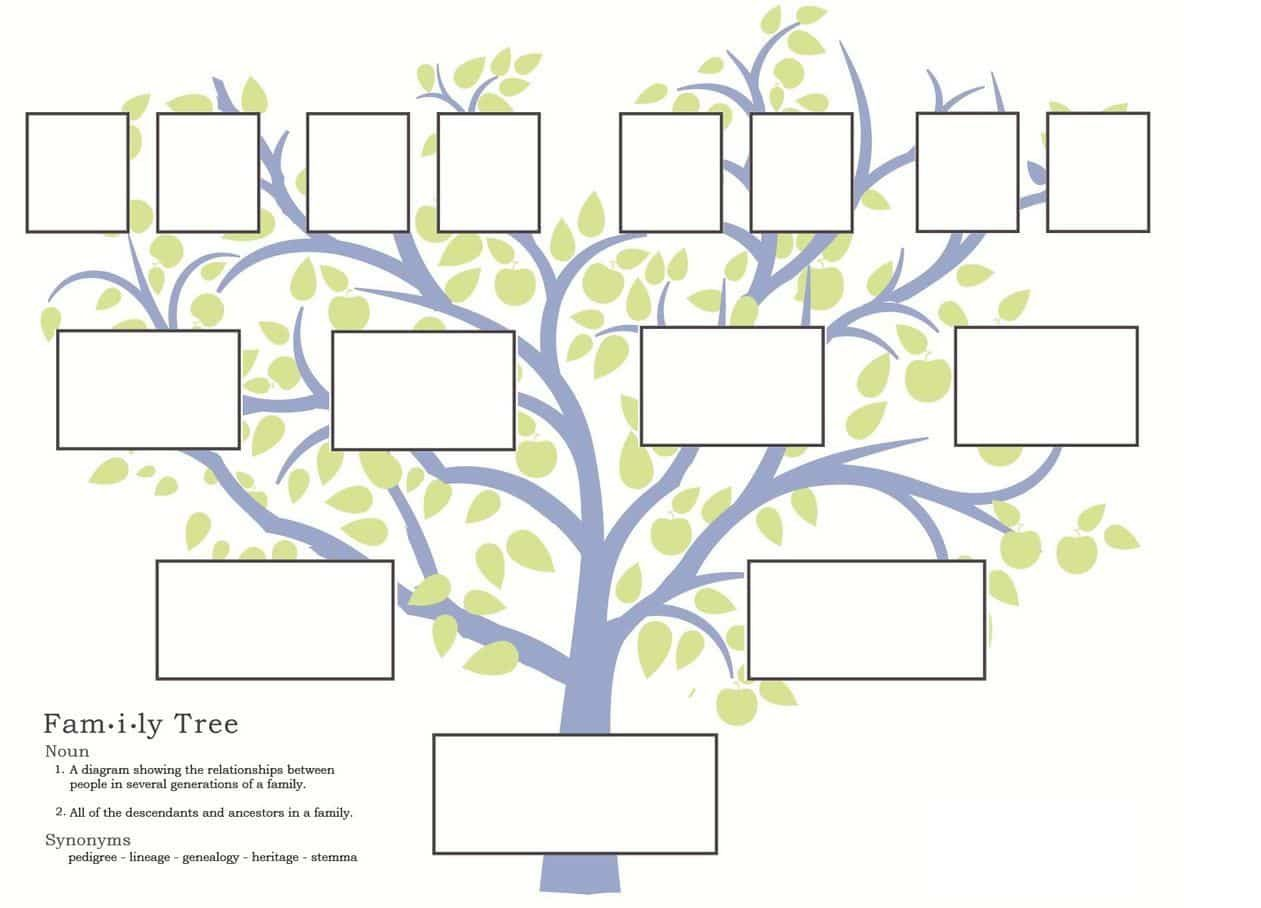 007 Exceptional Free Editable Family Tree Template High Resolution  With Sibling Powerpoint For MacFull