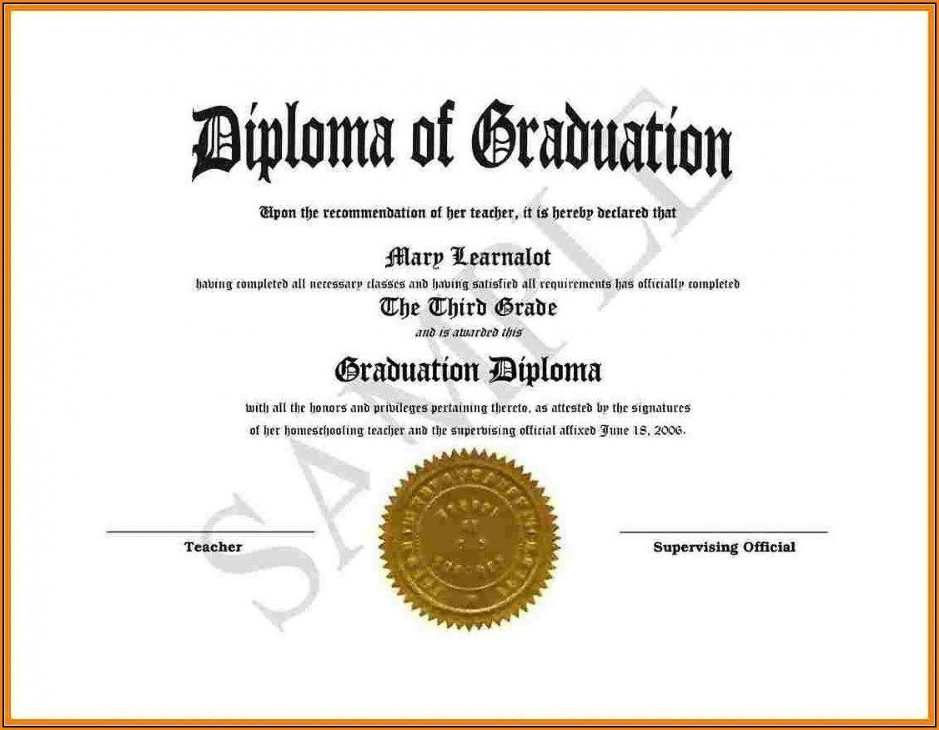 007 Exceptional Free High School Diploma Template Pdf Inspiration 1920