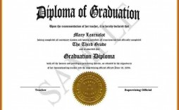 007 Exceptional Free High School Diploma Template Pdf Inspiration