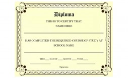 007 Exceptional Free Printable High School Diploma Online Picture