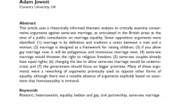 007 Exceptional Gay Marriage Essay Concept  Example Clever Title For