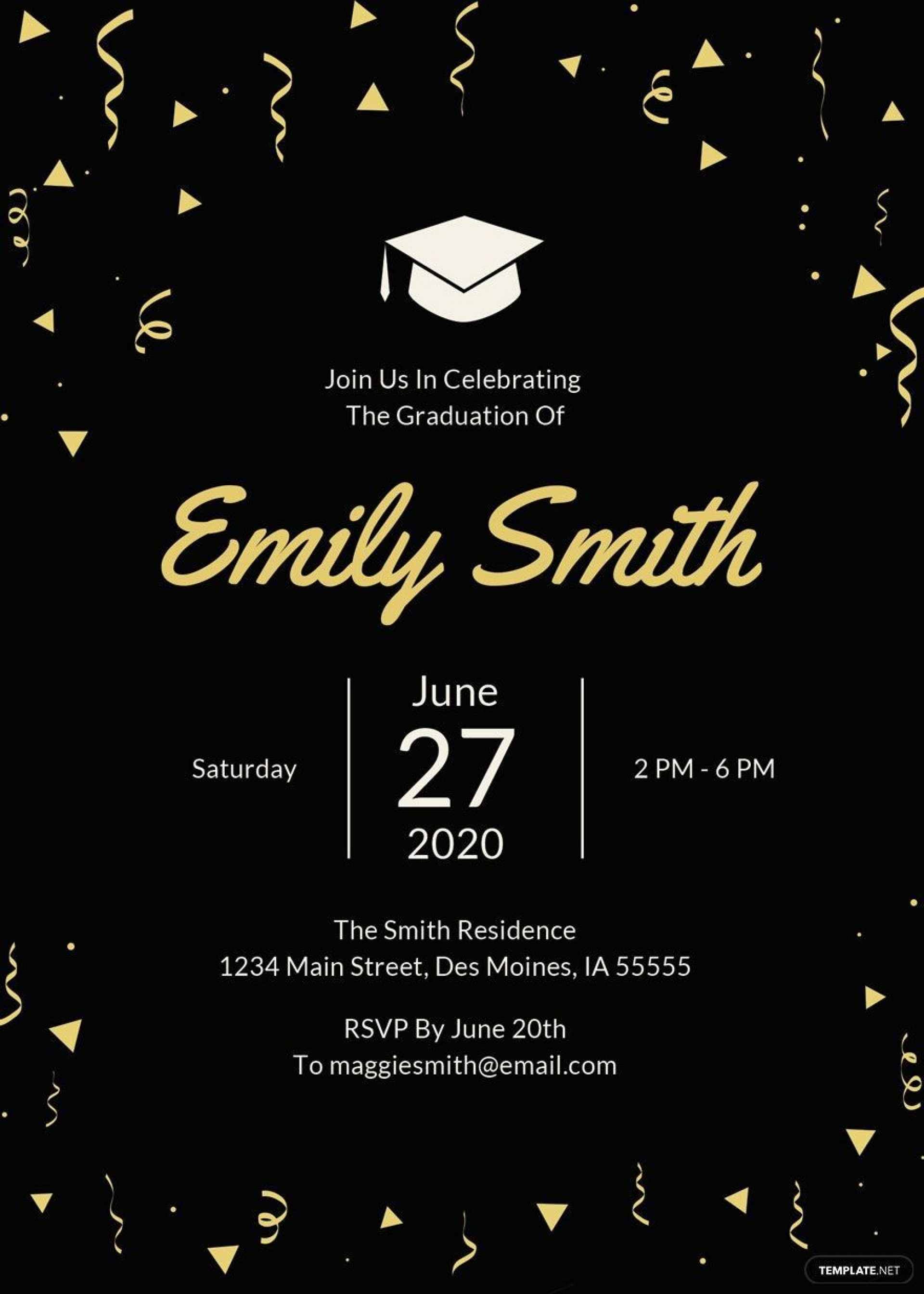 007 Exceptional Microsoft Word Graduation Party Invitation Template Example 1920