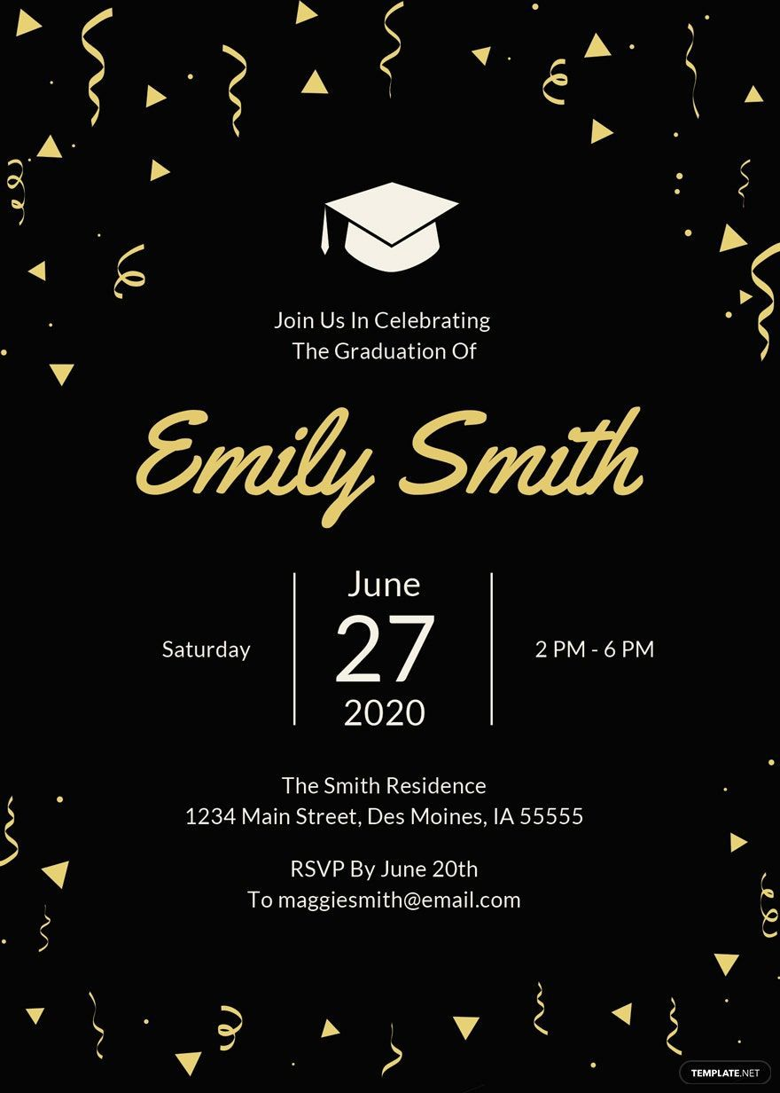 007 Exceptional Microsoft Word Graduation Party Invitation Template Example Full