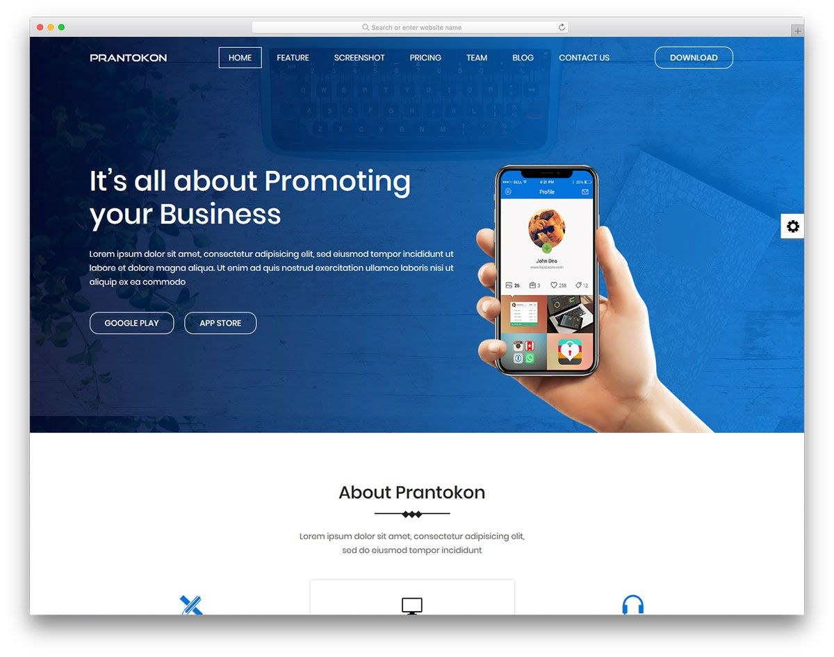 007 Exceptional One Page Website Template Free Download Html5 Sample  ParallaxFull