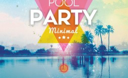 007 Exceptional Pool Party Flyer Template Free Highest Quality  Photoshop Psd