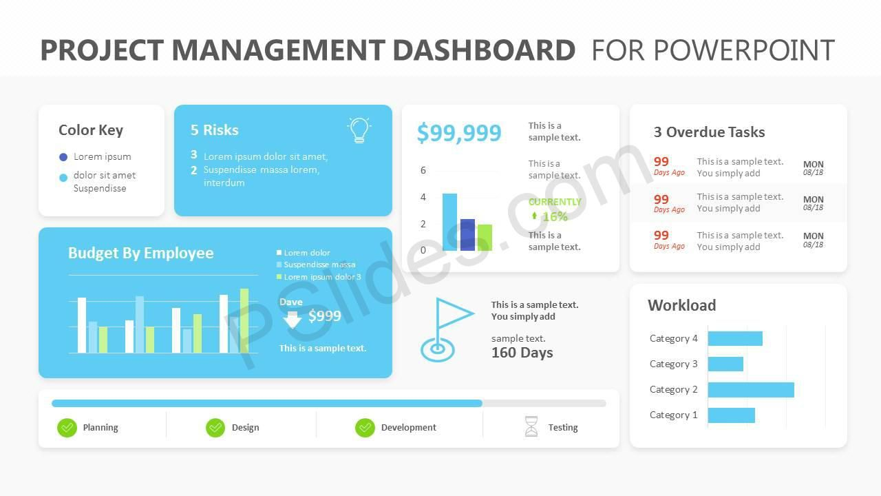 007 Exceptional Project Management Dashboard Powerpoint Template Free Download Highest Clarity Full