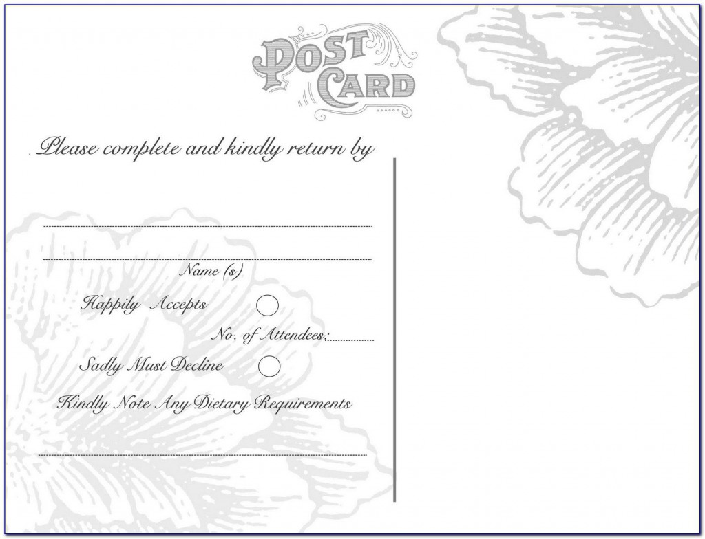 007 Exceptional Rsvp Postcard Template For Word Example Large