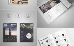 007 Exceptional School Magazine Layout Template Free Download Photo