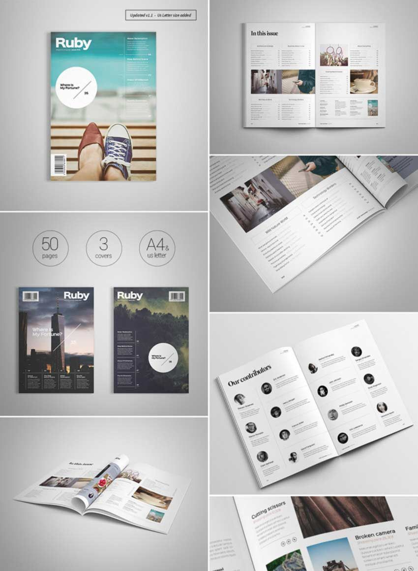 007 Exceptional School Magazine Layout Template Free Download Photo Full