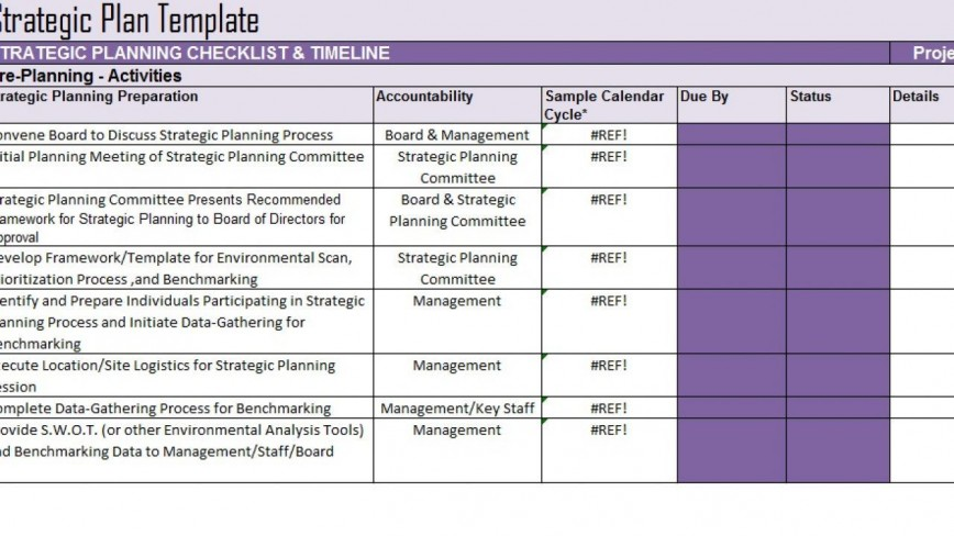 007 Exceptional Strategic Planning Template Excel Free Inspiration 868