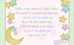 007 Exceptional Thank You Note Wording Baby Shower Sample  For Hosting Card