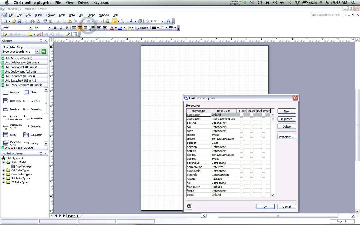 007 Exceptional Uml Diagram Template Visio 2010 Concept  Model Download ClasFull