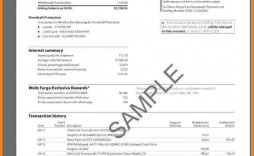 007 Exceptional Well Fargo Bank Statement Template High Definition  Fillable Editable