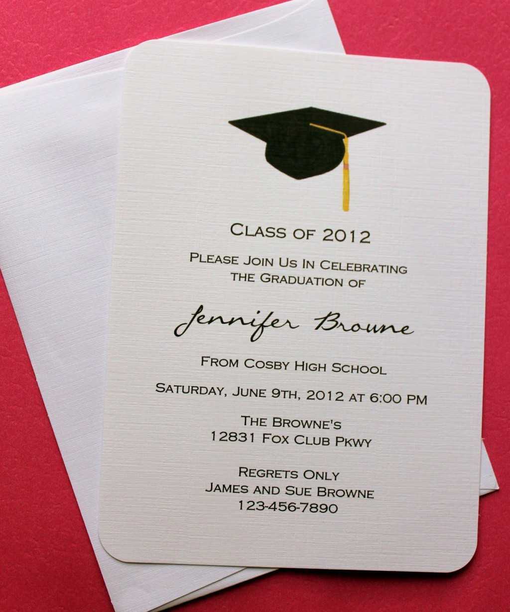 007 Fantastic College Graduation Invitation Template Image  Party Free For WordLarge