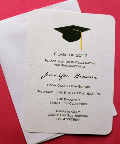 007 Fantastic College Graduation Invitation Template Image  Party Free For Word480