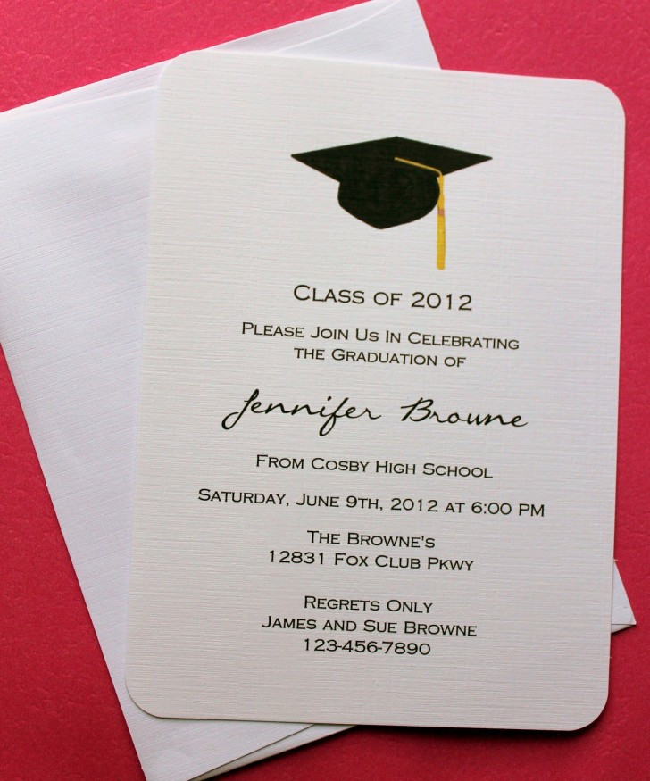 007 Fantastic College Graduation Invitation Template Image  Party Free For Word728