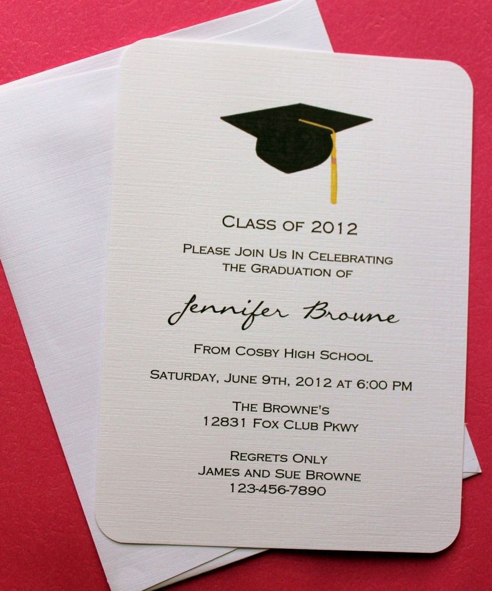 007 Fantastic College Graduation Invitation Template Image  Party Free For Word960