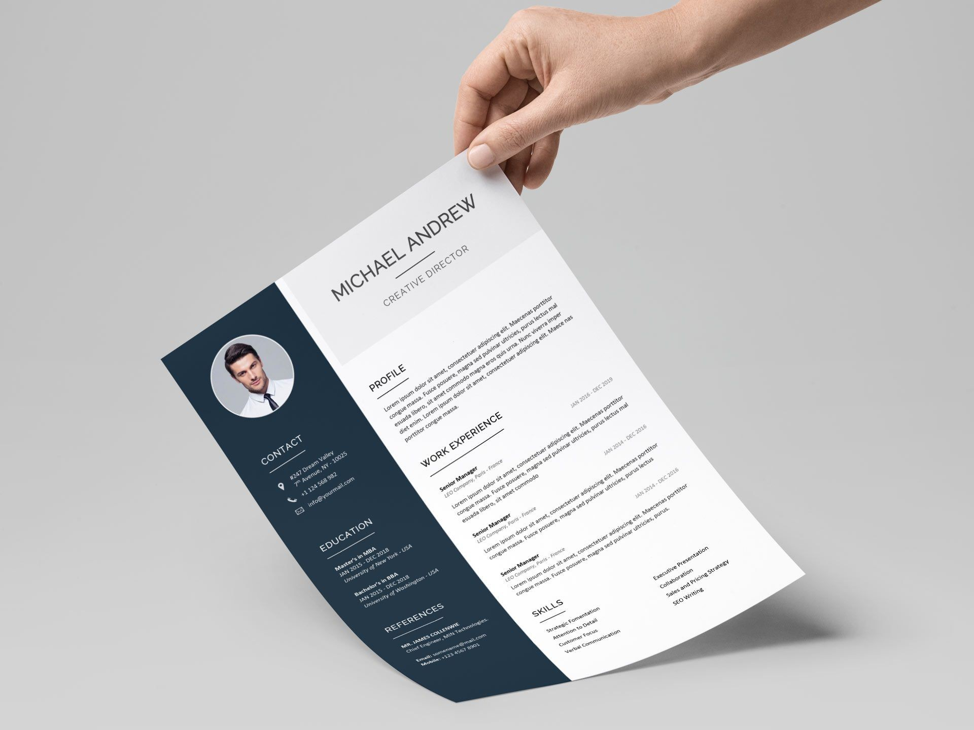 007 Fantastic Cv Template Free Word 2018 Picture  Download Modern1920
