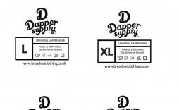 007 Fantastic Free Clothing Label Design Template Sample  Templates Download