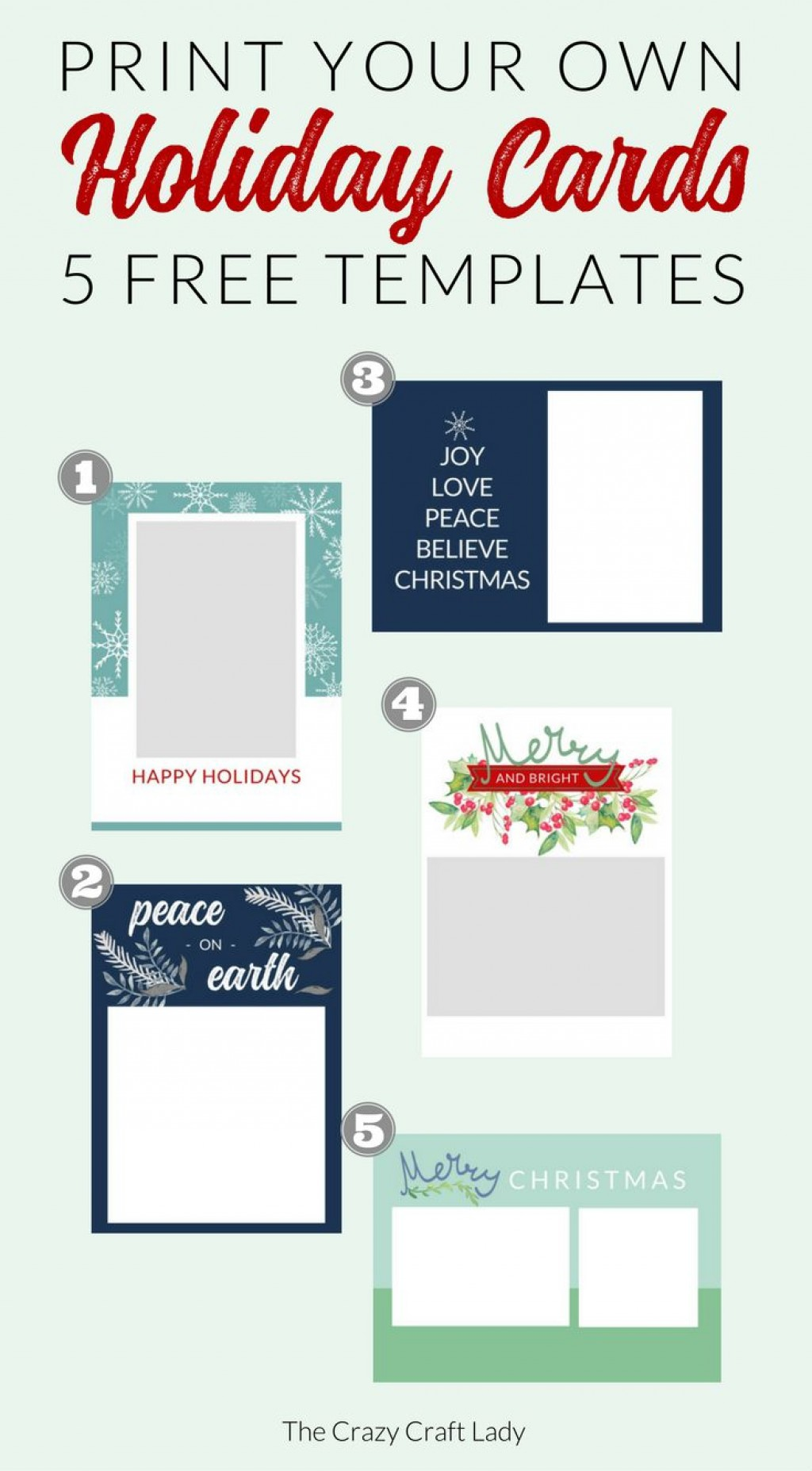 007 Fantastic Free Download Holiday Card Template Concept Large