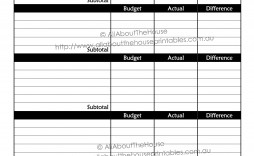 007 Fantastic Free Monthly Budget Template Pdf Sample  Fillable Household Worksheet