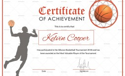 007 Fantastic Free Printable Basketball Certificate Template High Resolution  Templates