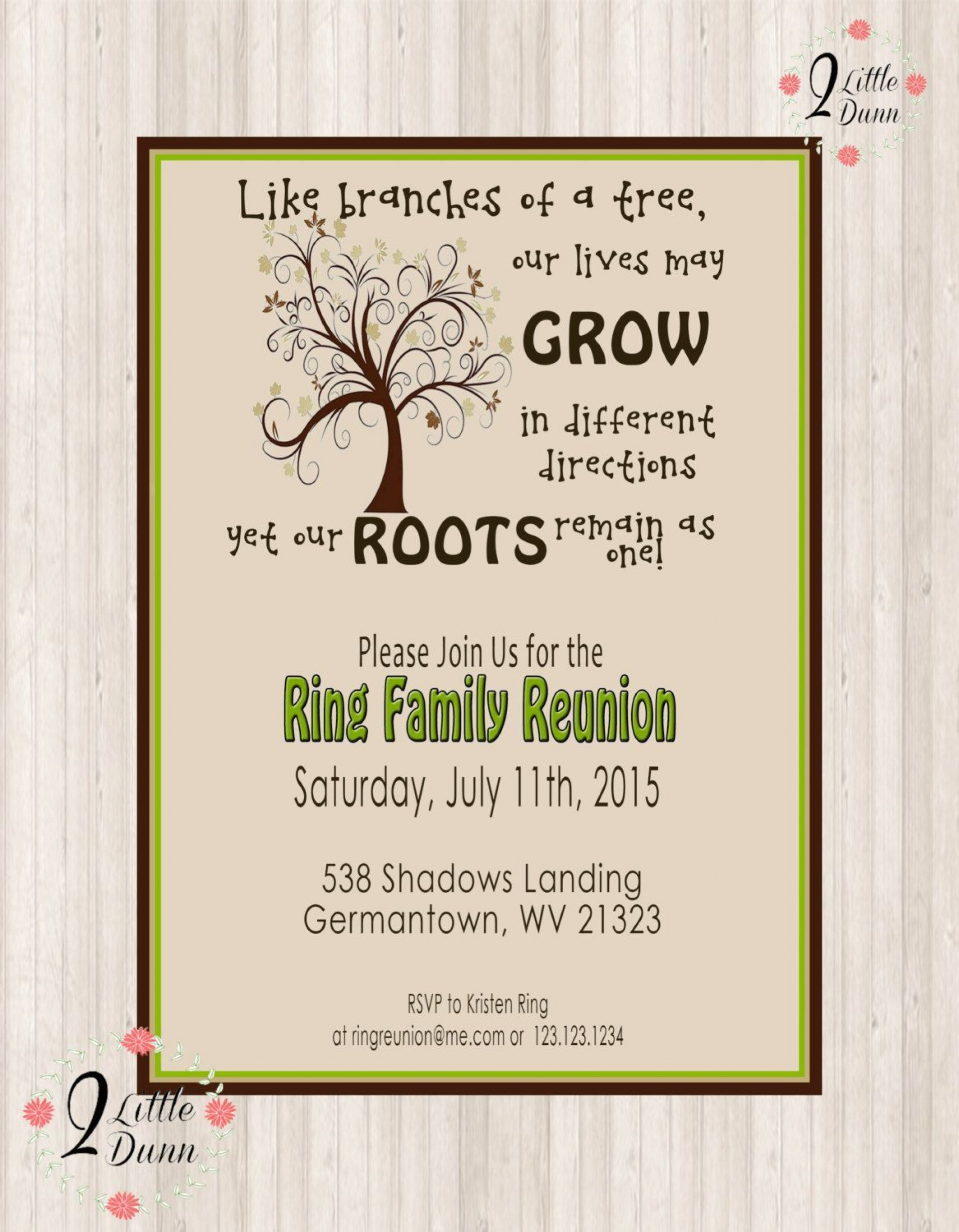 007 Fantastic Free Printable Family Reunion Invitation Template High Definition  Templates Flyer1920