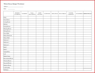 007 Fantastic Free Printable Home Budget Template Design  Form Sheet320