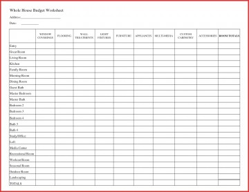 007 Fantastic Free Printable Home Budget Template Design  Form Sheet360