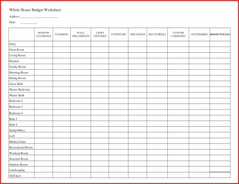 007 Fantastic Free Printable Home Budget Template Design  Form Sheet480