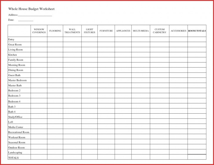 007 Fantastic Free Printable Home Budget Template Design  Form728