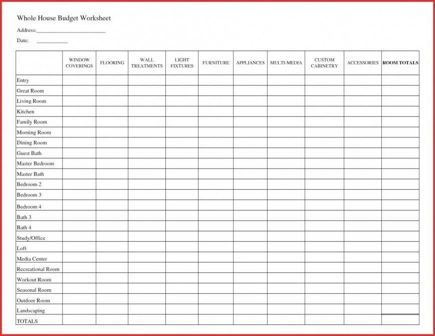 007 Fantastic Free Printable Home Budget Template Design  Form868