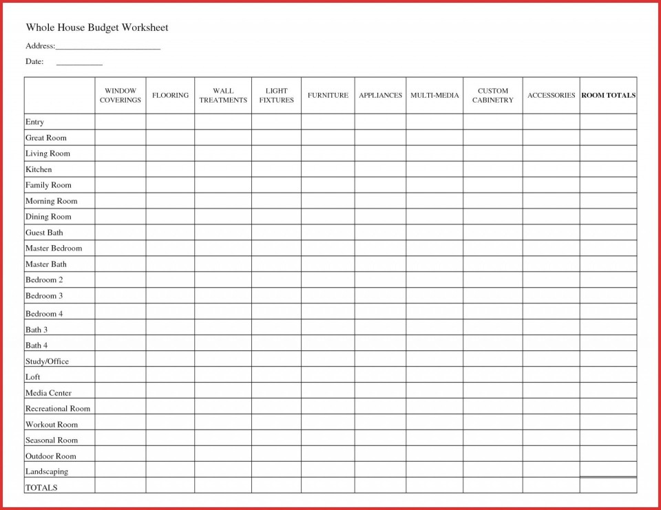 007 Fantastic Free Printable Home Budget Template Design  Form960