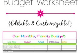 007 Fantastic Free Printable Home Budget Template Highest Clarity  Form Sheet