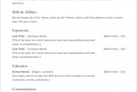 007 Fantastic Free Simple Resume Template Microsoft Word Example