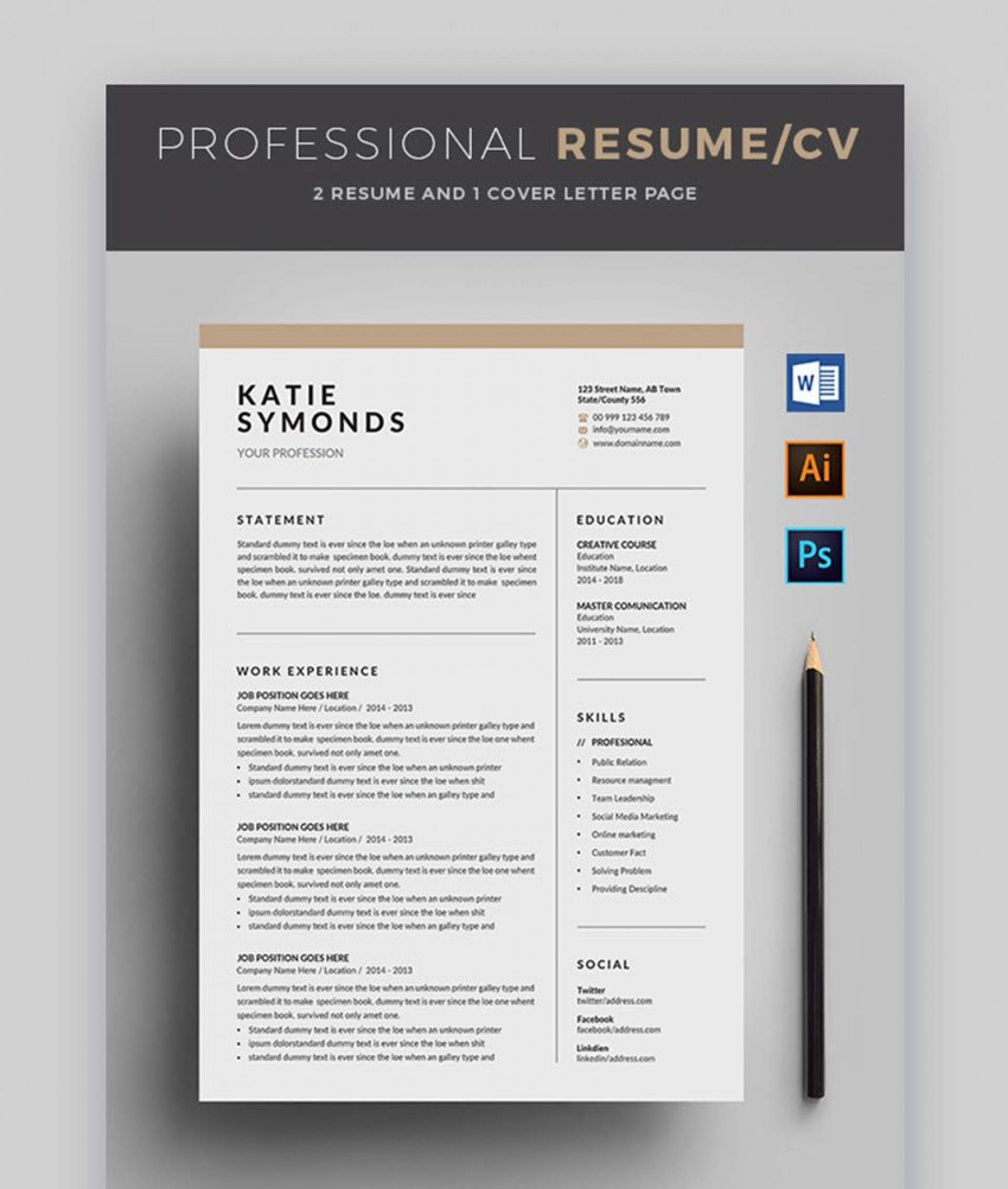 007 Fantastic Free Stylish Resume Template Picture  Templates Word Download1920