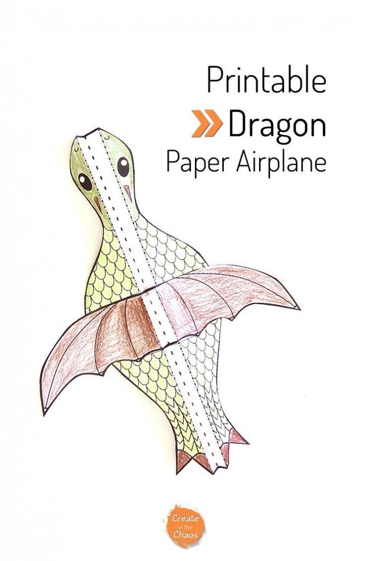 007 Fantastic Printable Simple Paper Airplane Instruction Photo  Plane728