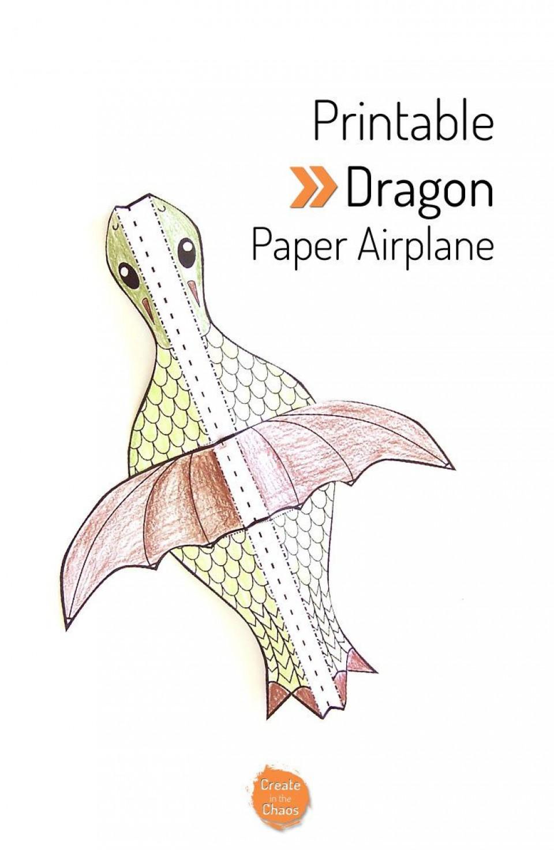 007 Fantastic Printable Simple Paper Airplane Instruction Photo  Plane960
