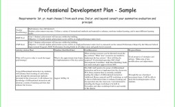 007 Fantastic Professional Development Plan Template Image  Example For Manager Excel