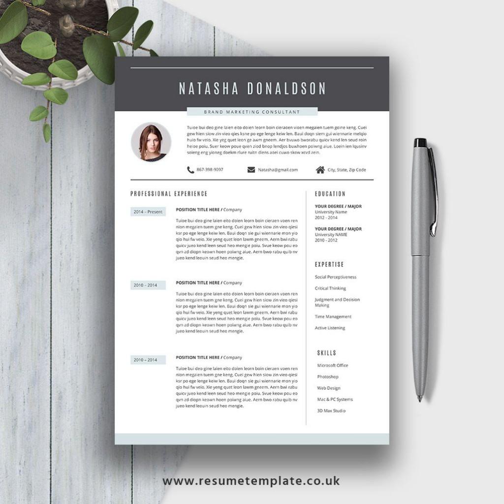 007 Fantastic Resume Template M Word 2020 Photo  Free MicrosoftLarge