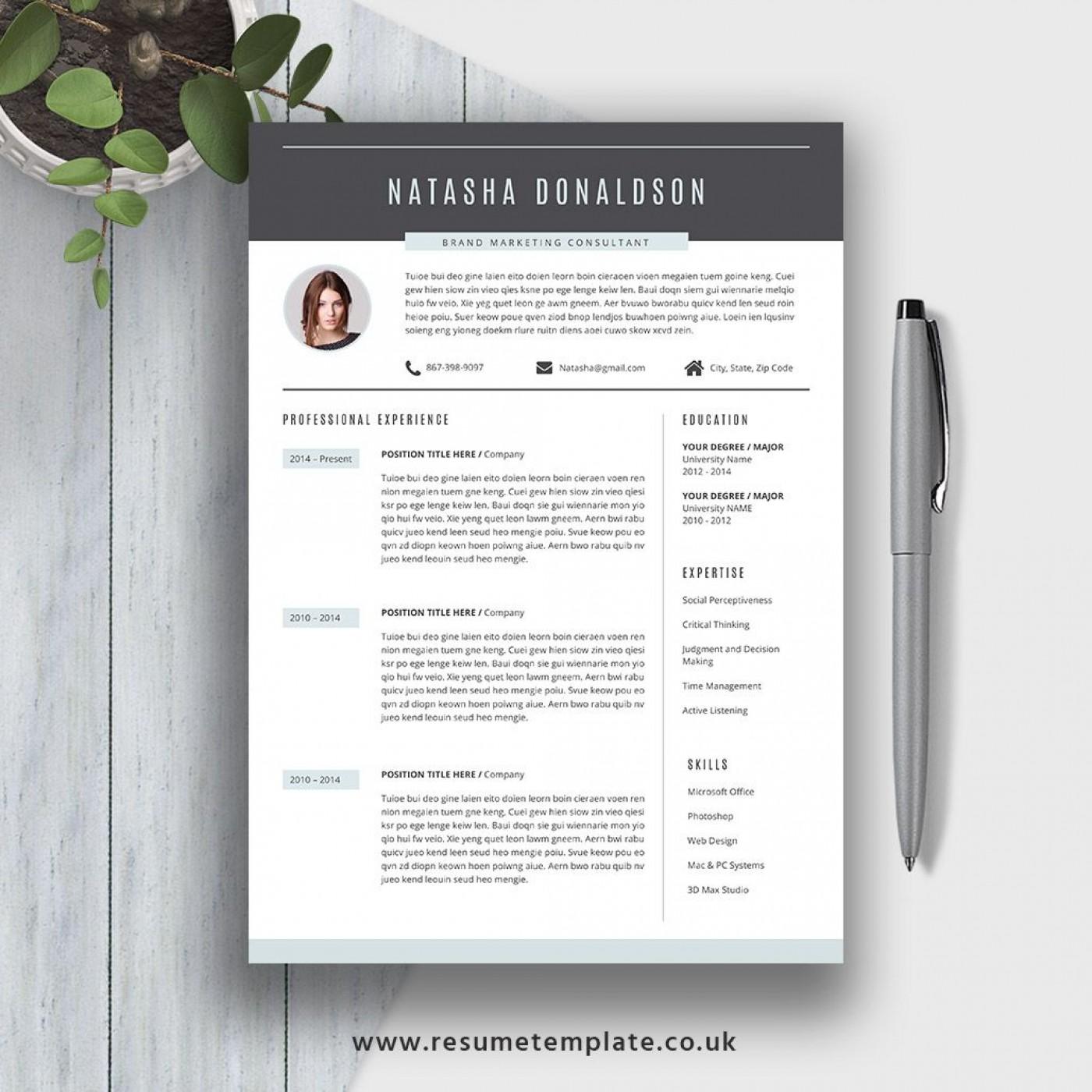 007 Fantastic Resume Template M Word 2020 Photo  Free Microsoft1400