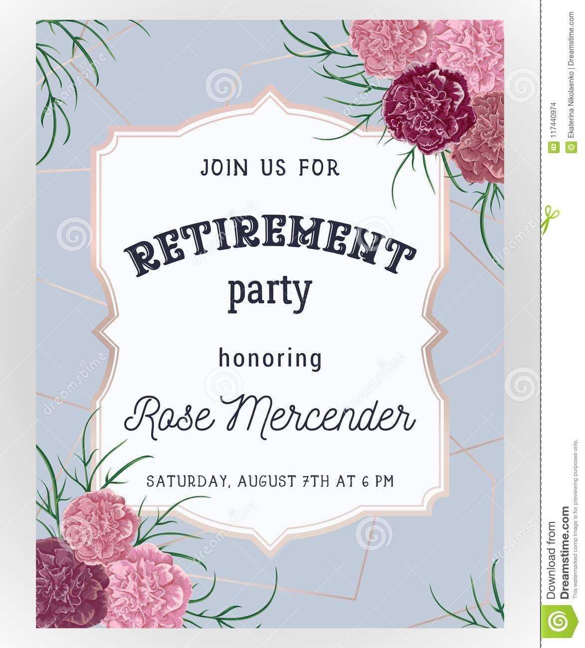 Retirement Party Invitation Templates ~ Addictionary