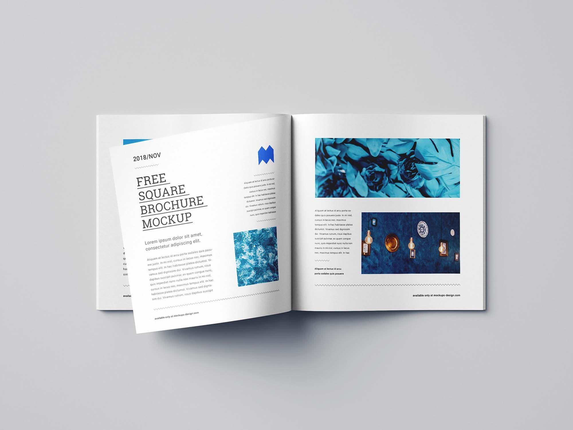 007 Fantastic Square Brochure Template Psd Free Download Idea Full