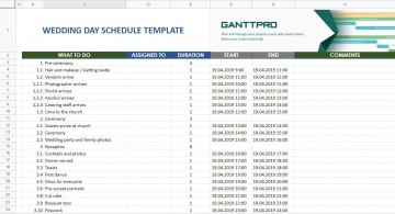 007 Fantastic Wedding Day Schedule Template Highest Clarity  Excel Editable Timeline Free Word360