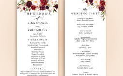 007 Fantastic Wedding Reception Program Template Example  Templates Layout Free Download Ceremony And