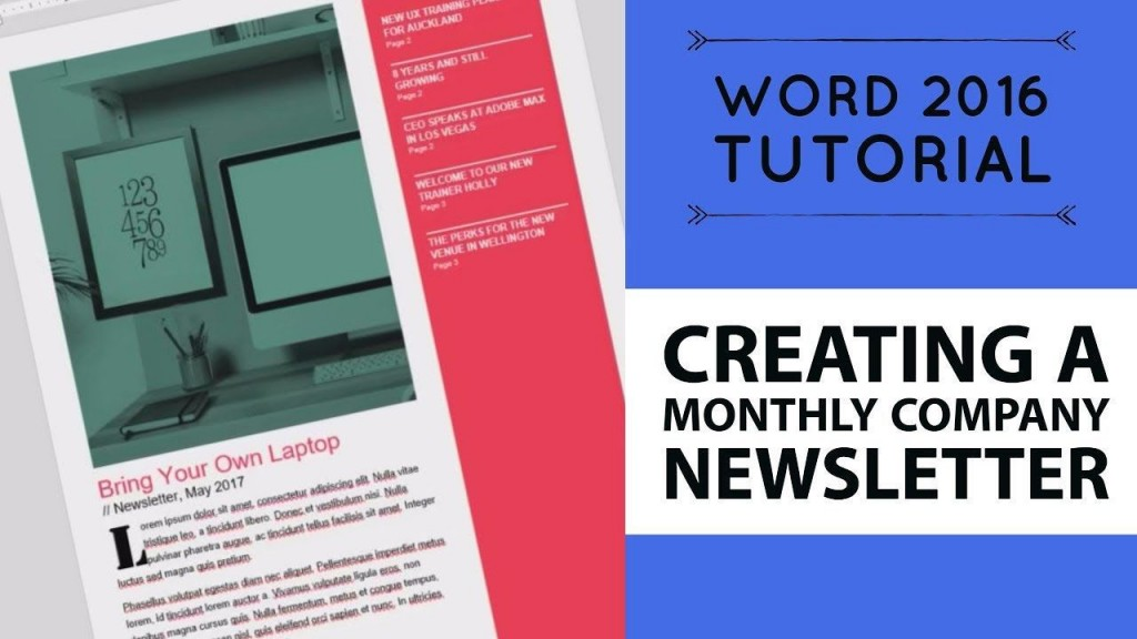 007 Fantastic Word 2007 Newsletter Template Free Example Large